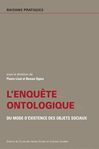 9782713213779: L'enquête ontologique, du mode de l'existence des objets sociaux