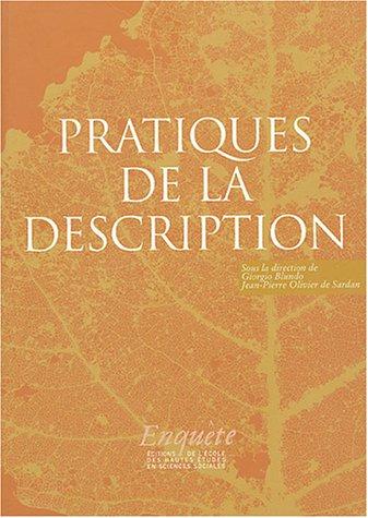 Pratique de la description (French Edition): Giorgio Blundo