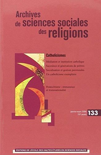 ARCHIVES DE SCIENCES SOCIALES DES RELIGIONS NO.133: COLLECTIF
