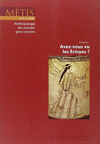 REVUE METIS T.4; avez-vous vu les Érinyes ?: Jean-Louis Labarrière