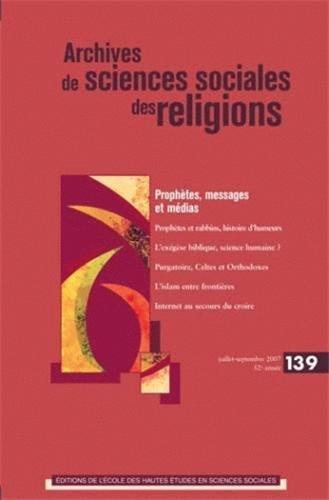 ARCHIVES DE SCIENCES SOCIALES DES RELIGIONS NO.139: COLLECTIF