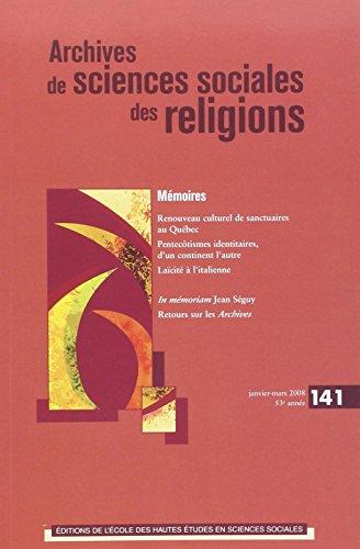 ARCHIVES DE SCIENCES SOCIALES DES RELIGIONS NO.141: COLLECTIF