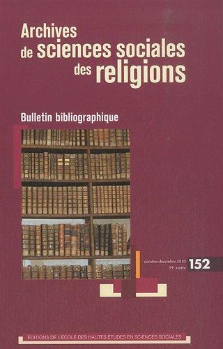 Revue archives de sciences sociales des religions n152: Pierre-Antoine Fabre