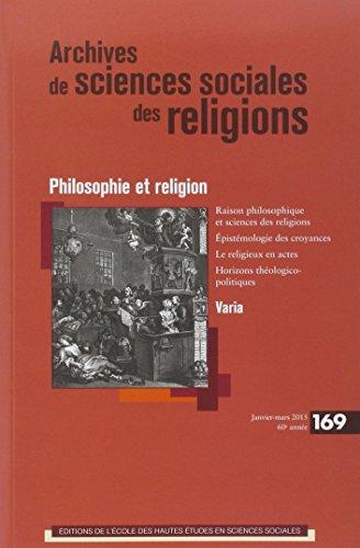 9782713224683: Archives de Sciences Sociales des Religions 169