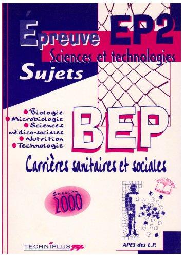 9782713521423: Epreuve EP2 sujets. BEP sciences sanitaires et sociales