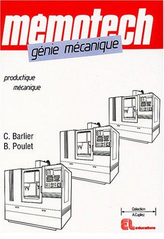 9782713525063: Génie mécanique : Productique mécanique