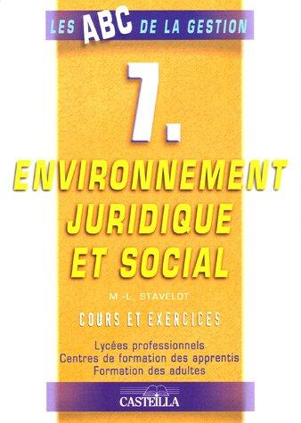9782713525384: Environnement juridique et social : Cours et exercices