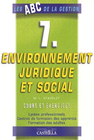 9782713528330: Environnement juridique et social : Cours et exercices