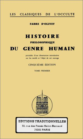 9782713800887: Histoire philosophique du genre humain : Tome 1