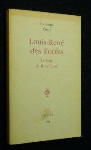 9782714304032: Louis-René Des Forêts : La voix et le volume