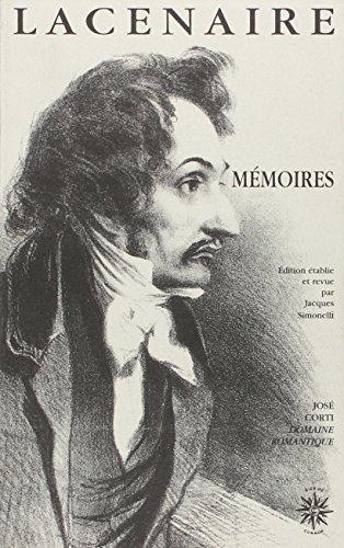 9782714304063: Mémoires : Et autres écrits (Domaine romantique)