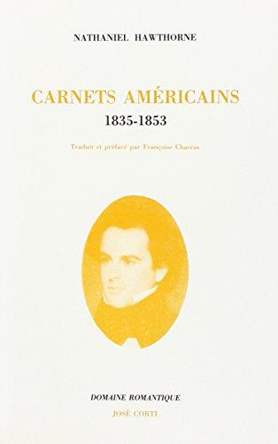 9782714305367: Carnets américains : 1835-1853