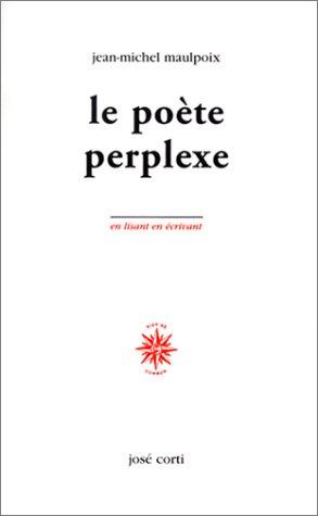 9782714307699: Le Po�te perplexe (livre non massicot�)