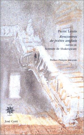 9782714307774: Rencontres de poètes anglais suivi de