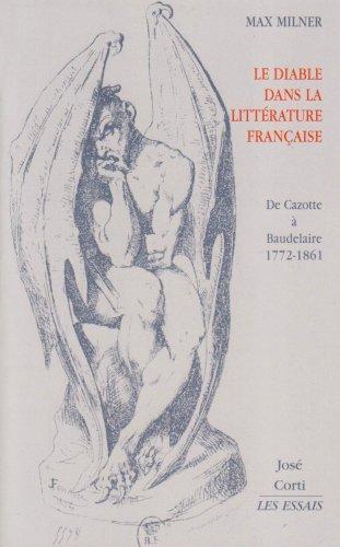 9782714309464: Le Diable dans la littérature française : De Cazotte à Baudelaire 1772-1861