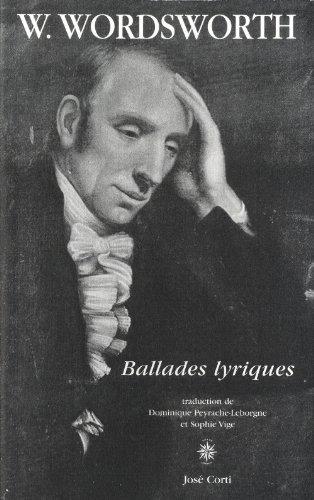 9782714310774: Ballades lyriques : Suivies de Ode : pressentiments d'immortalité