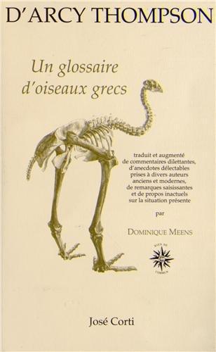 UN GLOSSAIRE D'OISEAUX GRECS: D'ARCY THOMPSON