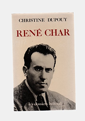 9782714420381: René Char (Les Dossiers Belfond) (French Edition)