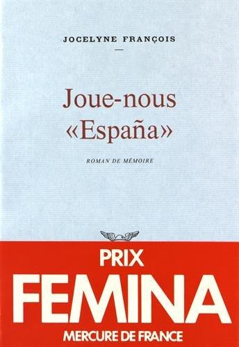 """Joue-nous """"España [Broché] [Nov 27, 1980] François,"""