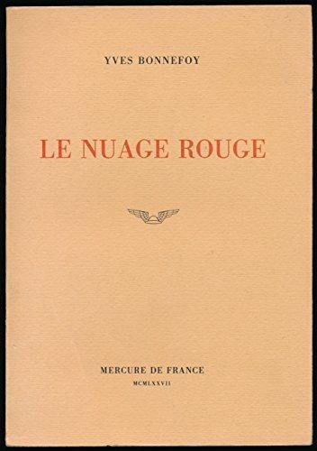 9782715210899: Le Nuage rouge: Essai sur la poétique