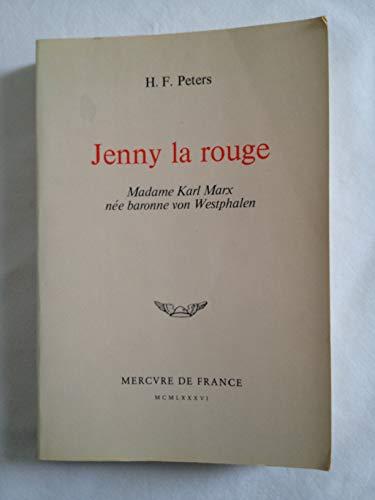 9782715213661: Jenny la rouge : Madame Karl Marx née baronne von Westphalen