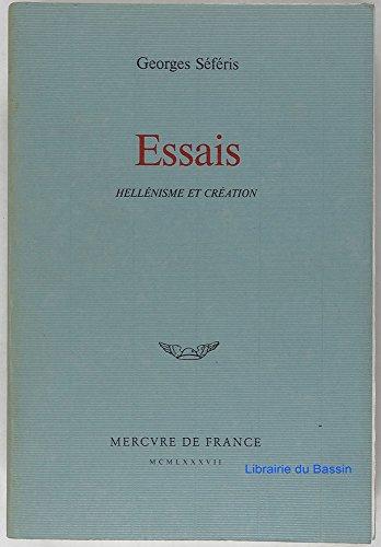 9782715214712: ESSAIS . HELLENISME ET CREATION
