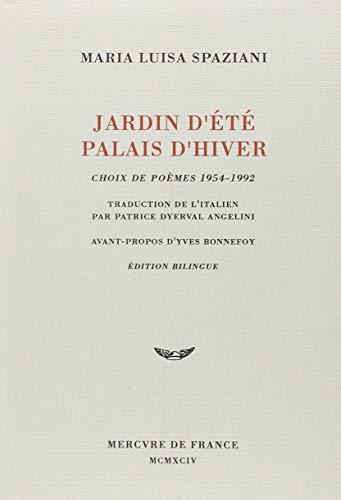 9782715217997: Jardin d'été Palais d'hiver: Choix de poèmes 1954-1992