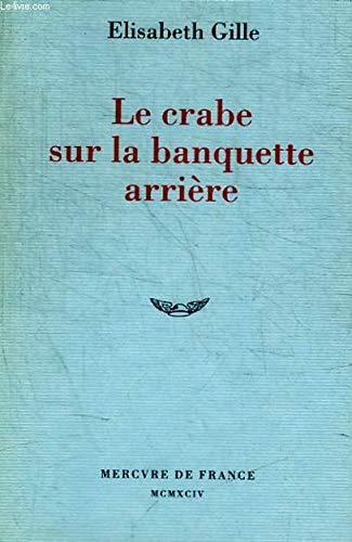 9782715218963: Le crabe sur la banquette arrière