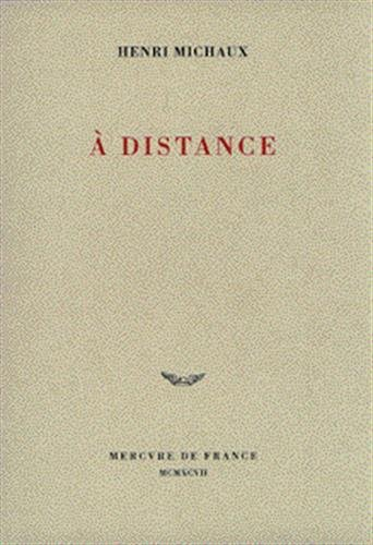 9782715220225: A distance: Poèmes (French Edition)