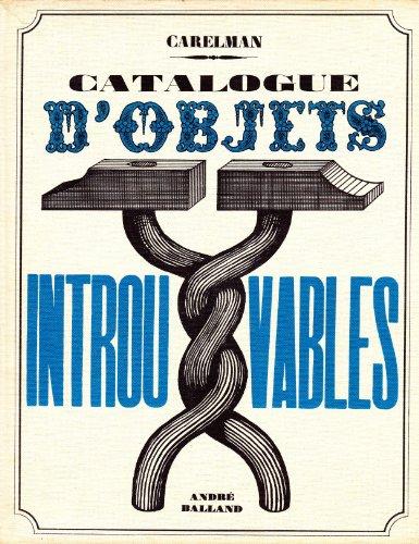 9782715800762: CATALOGUE D'OBJETS INTROUVABLES