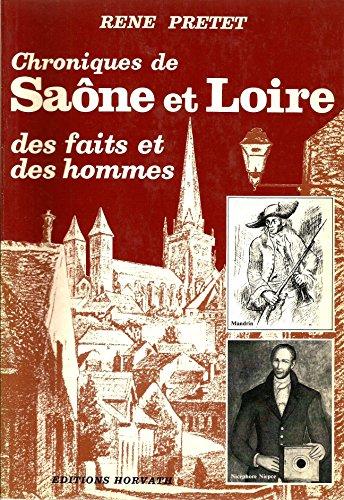 9782717103892: Chroniques de Sa�ne-et-Loire (Vie quotidienne autrefois)