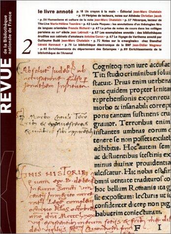 9782717720754: Revue de la Bibliothèque nationale de France, tome 2 : le livre annoté