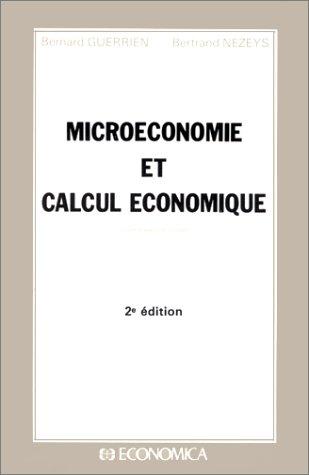 9782717811698: Microéconomie et calcul économique