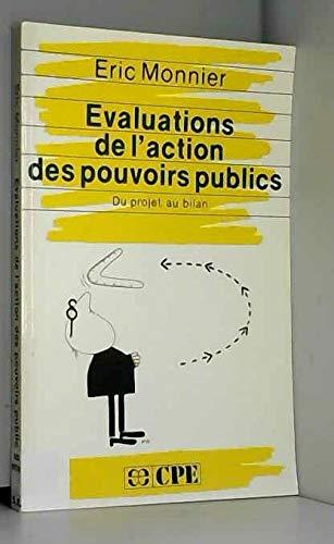 9782717813142: Evaluations de l'action des pouvoirs publics: Du projet au bilan (CPE-Economica) (French Edition)