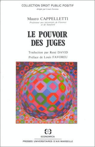 Le pouvoir des juges : articles choisis: Cappelletti, Mauro.