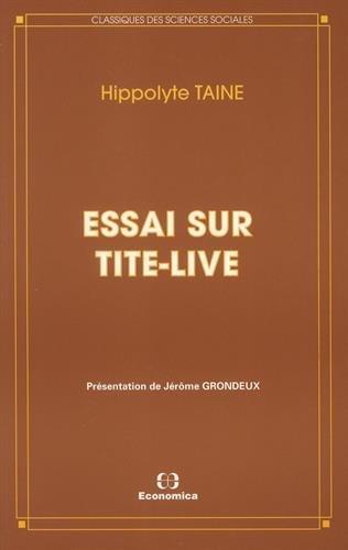 9782717826333: Essai sur Tite-Live (Classiques des sciences sociales) (French Edition)