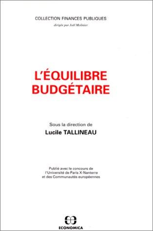 9782717826562: L'équilibre budgétaire (Collection Finances publiques) (French Edition)