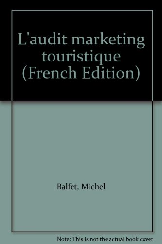 9782717833652: L'audit marketing touristique