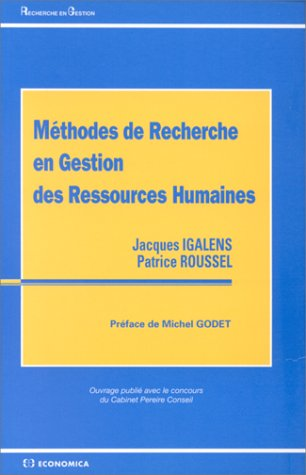 9782717835960: M�thodes de recherche en gestion des ressources humaines