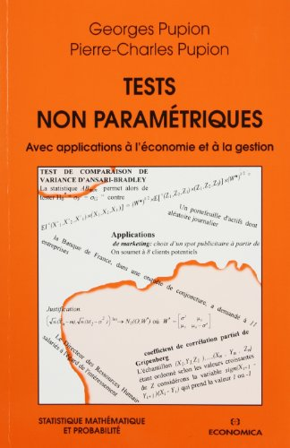 9782717836141: Tests non parametriques: Avec applications a l'economie et a la gestion (Collection Statistique mathematique et probabilite) (French Edition)