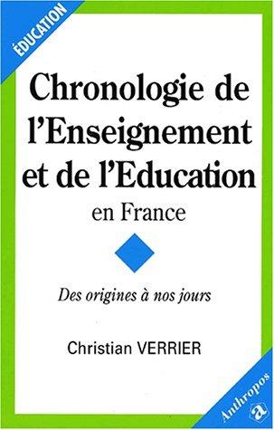 9782717842791: Chronologie de l'enseignement