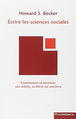 ECRIRE LES SCIENCES SOCIALES: BECKER HOWARD