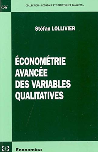 9782717851427: Econom�trie avanc�e des variables qualitatives