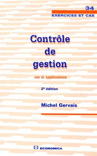 9782717852684: Contr�le de gestion : Cas et applications