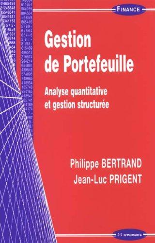 9782717852806: Gestion de Portefeuille : Analyse quantitative et gestion structurée