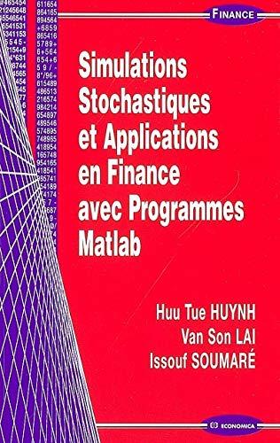 9782717853155: Simulation Stochastiques et Applications en