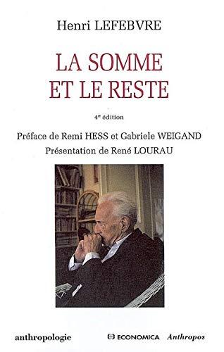 La somme et le reste: Henri Lefebvre