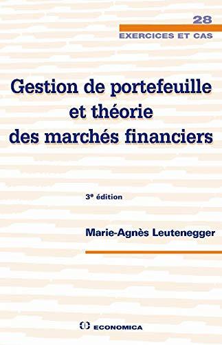 9782717859379: Gestion de portefeuille et théorie des marchés financiers