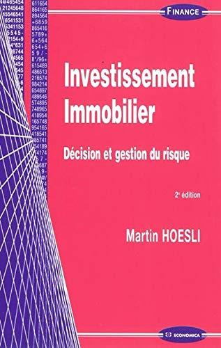 9782717860689: Investissement immobilier : Décision et gestion du risque (Finance)