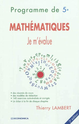 9782717864649: je m'evalue - mathematiques programme de 5e, 2e edition